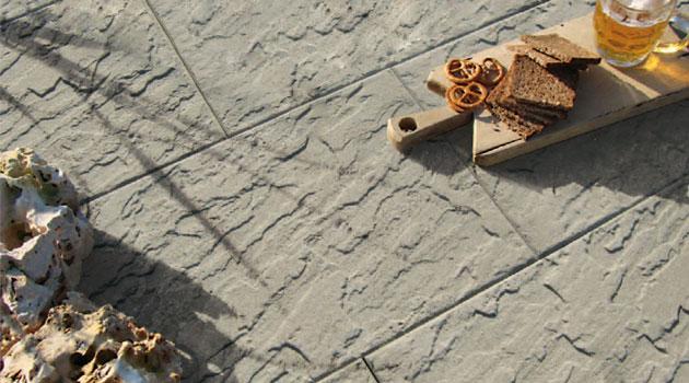 Pavimentazione Scisto in pietra ricostruita made in italy noce