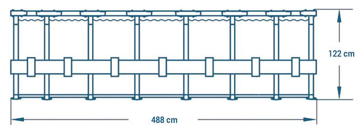 Piscina Ultra XTR Frame rotonda dimensioni