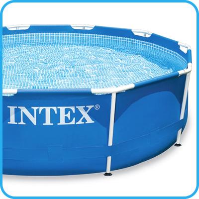 Piscina fuori terra intex metal frame rotonda 457x107 cm - Riparazione telo piscina ...