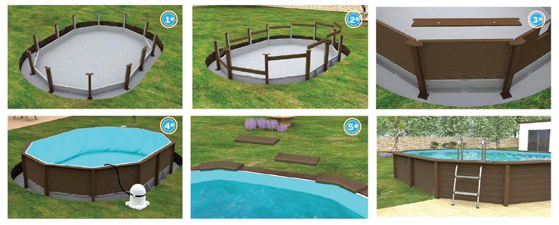 fasi di montaggio piscine naturalis
