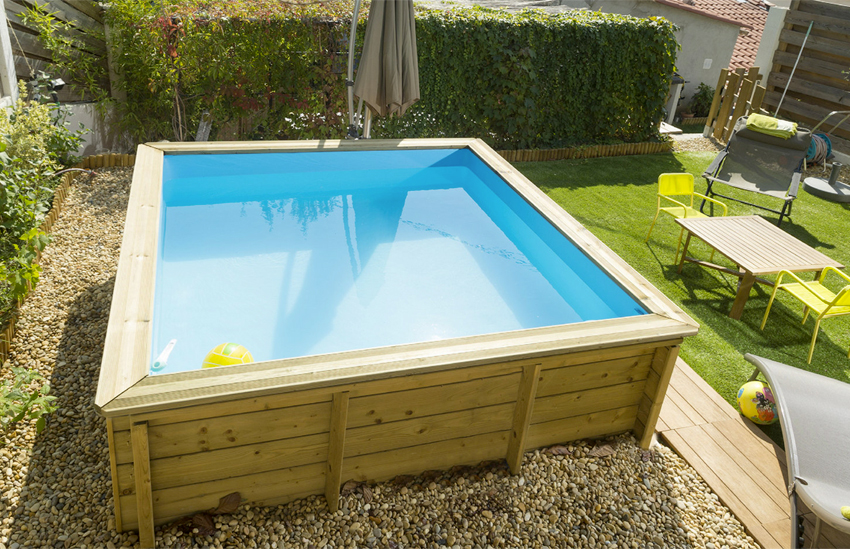 Piscina in legno naturalwood junior 2 26 x 2 26 x h 0 68 m for Petite piscine enterree