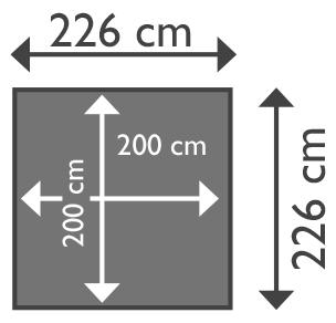 Piscina in legno NaturalWood 220 - 2,26 x 2,26 x h0,63 cm