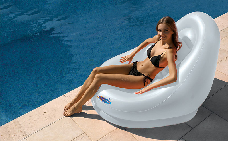 Poltrona galleggiante gonfiabile COCOON per piscina