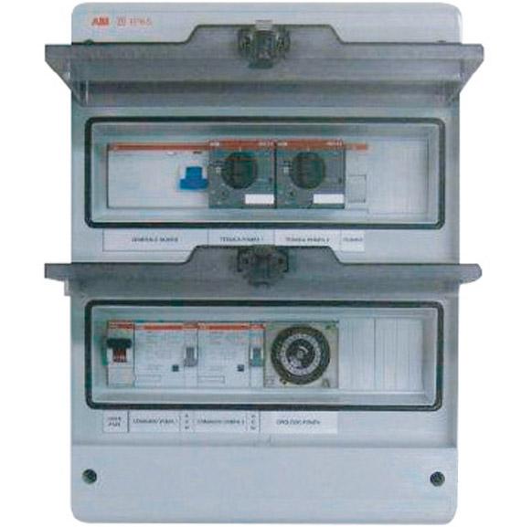Quadro elettrico per filtrazione skimmer a due pompe