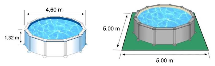 dimensioni piscina circolare RATTAN gre