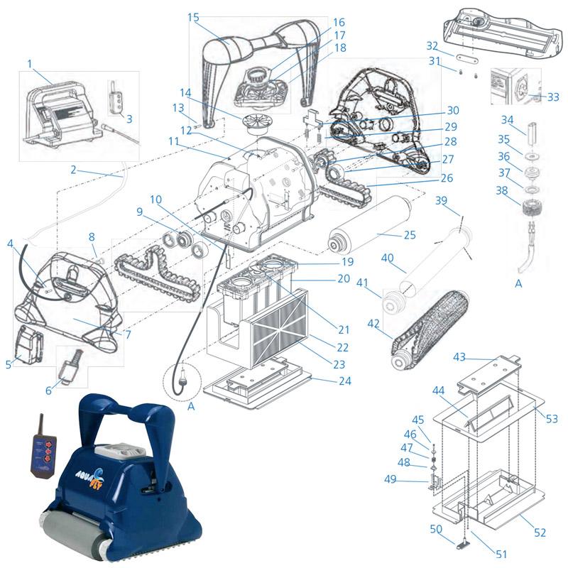 Ricambi per robot Aquavac-Hayward AQUAFLY PLUS