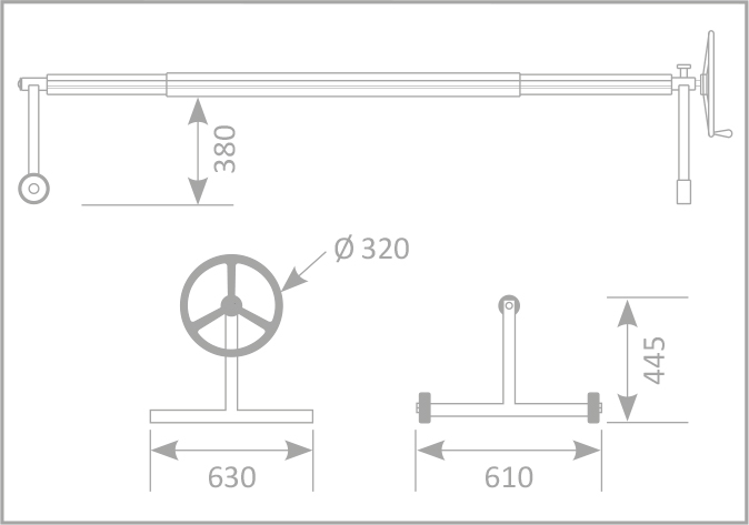 dimensioni Rullo avvolgitore per piscine interrate