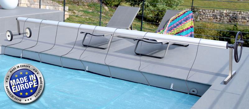 Rullo avvolgitore per piscine interrate fino a 5 m di larghezza