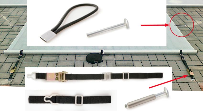 sistema di fissaggio copertura safety