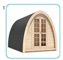 Sauna finlandese da esterno MODI