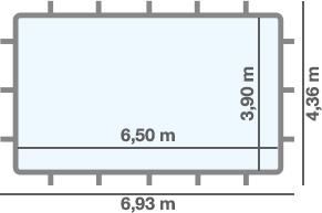 dimensioni piscina SUPREME