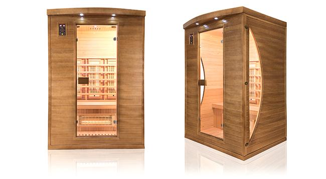 Sauna a raggi infrarossi Spectra da 2 posti