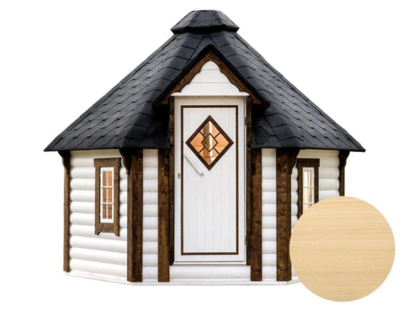 Sauna finlandese tradizionale da esterno loki 5-7 posti