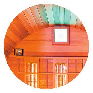Sauna infrarossi Asgard - Audio Luce