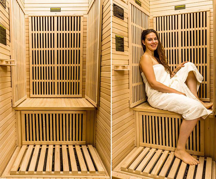 Sauna a raggi infrarossi Ruby