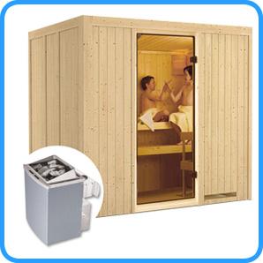 Sauna finlandese tradizionale Sodin stufa 9 kw