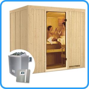 Sauna finlandese tradizionale Sodin stufa 9 kw e pannello