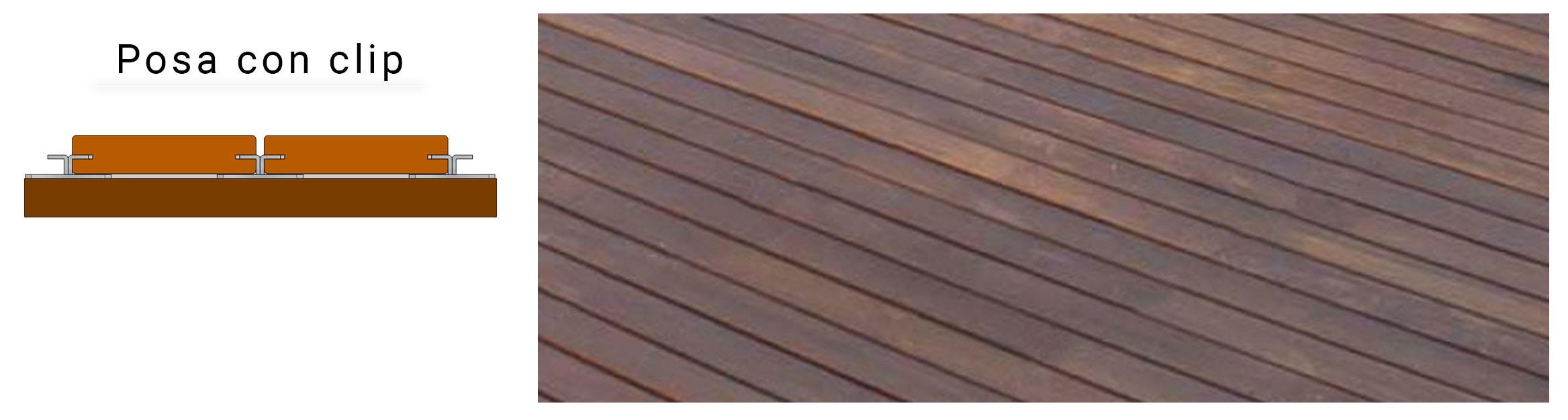 Sistemi di posa Pavimentazione in legno naturale IPE