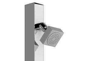 Doccia ad acqua calda e fredda TECNO CUBE SQUARE in acciaio 316L