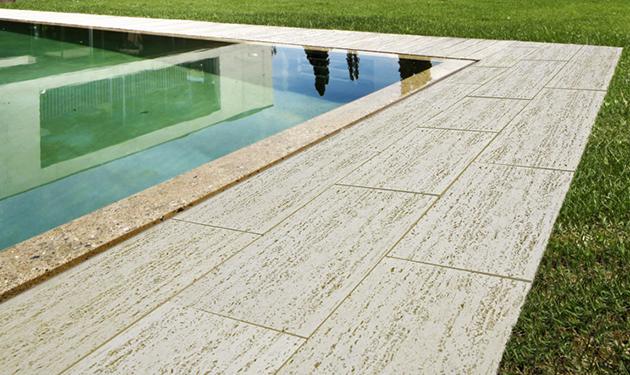 Lastra pavimentazione travertino 50 x 30 prezzo al mq for Giardino 30 mq progetto