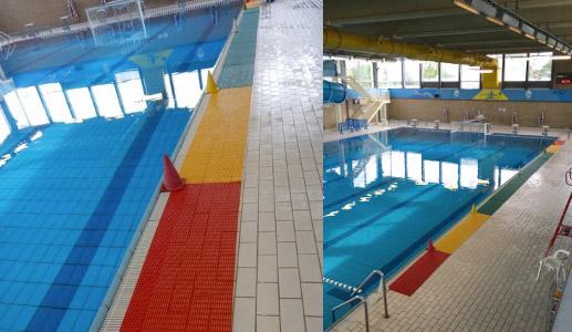 Tappetino antiscivolo piscina floorline in pvc per pallanuoto - Tappetino per piscina ...