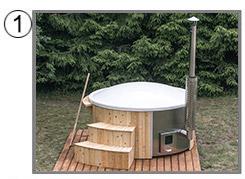 Tinozza in legno e vetroresina MONS kit standard