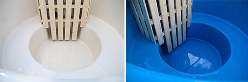 Colori rivestimento interno tinozza in legno e vetroresina