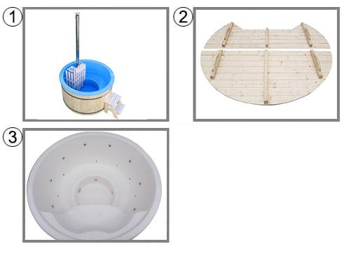 Tinozza in legno e vetroresina RIBE kit pro