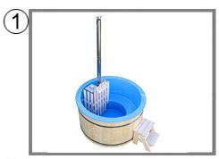 Tinozza in legno e vetroresina RIBE kit standard