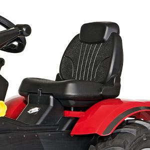 Trattore a pedali per bambini Massey Ferguson con sedile