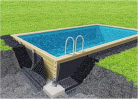 Membrana isolante HDPE 1,5 x 20 m per piscine in legno
