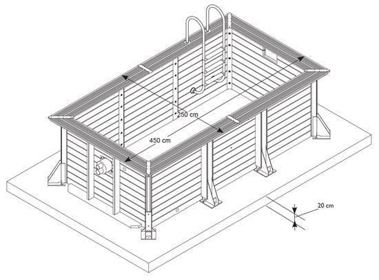 Dimensioni Piscina in legno NorthWood FIT - 4,50 x 2,50 h.1,40 m