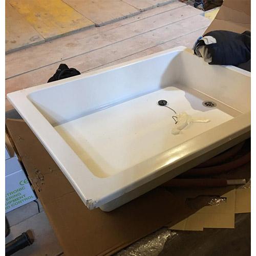 Vaschetta lava piedi per piscina 80 x 100 x h20 cm - Danneggiata