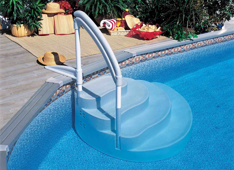 Scaletta amovibile wedding cake antiscivolo per piscina - Scaletta per piscina ...
