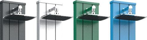 Doccia ad acqua calda e fredda SPRING S con lavapiedi