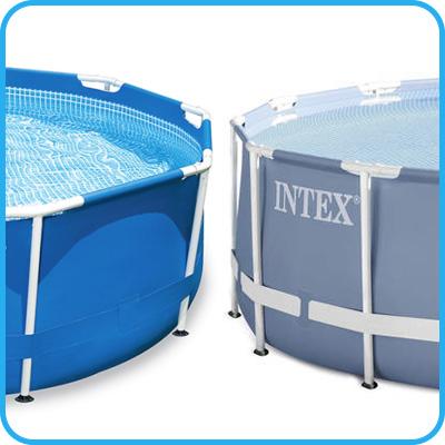 Piscina fuori terra intex metal frame 4 57 x h 1 22 m - Riparazione telo piscina ...