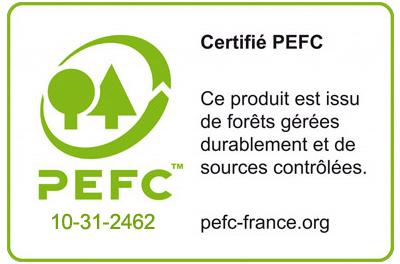 Certificato PEFC piscina in legno per bambini