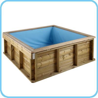 Piscina naturalwood pistoche in legno per bambini prezzo offerta - Piscina fuori terra quadrata ...