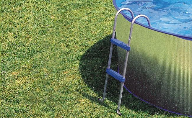Scaletta a ponte gre 2x2 gradini h 98 cm per piscine fuori terra - Scaletta per piscina fuori terra ...