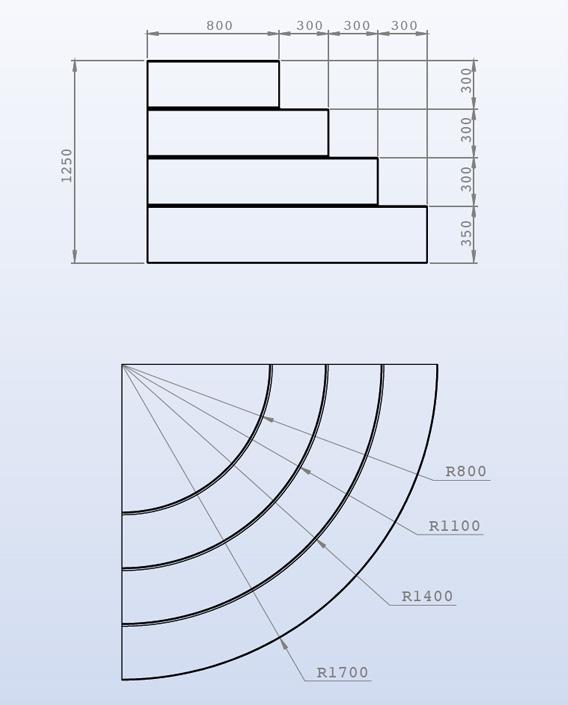scala interna per piscina ad angolo curvo h 1 25 m per. Black Bedroom Furniture Sets. Home Design Ideas
