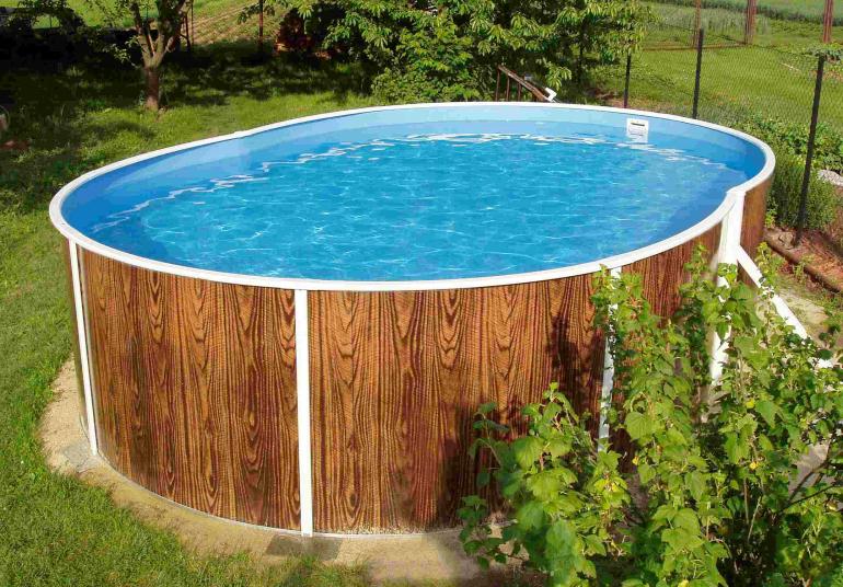Piscina fuori terra rotonda azuro 404dl legno - Piscina gonfiabile 2 metri ...