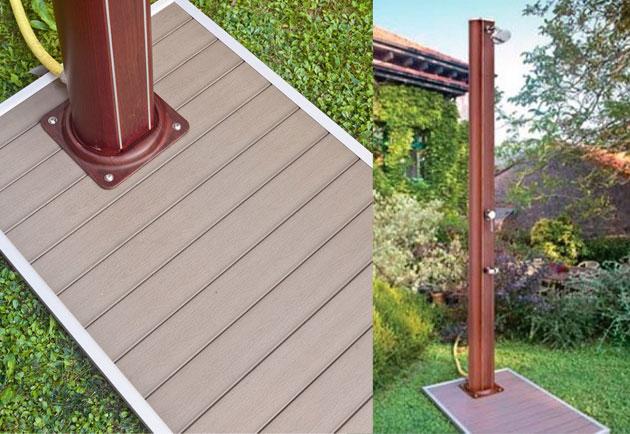 Piatto doccia in pvc 60 x 90 effetto legno - Doccia solare per piscina ...