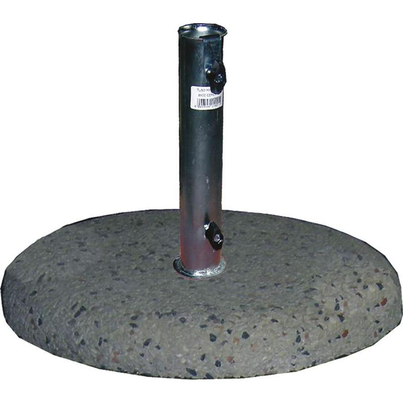 Base per ombrellone in cemento graniglia - diam. tubo da 40 a 50 cm