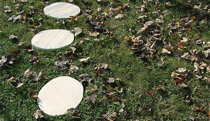 Camminamento giardino Passo loto in pietra ricostruita made in italy