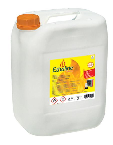 Bioetanolo liquido EHTALINE da 10 l - Confezione da 20 o 30 taniche