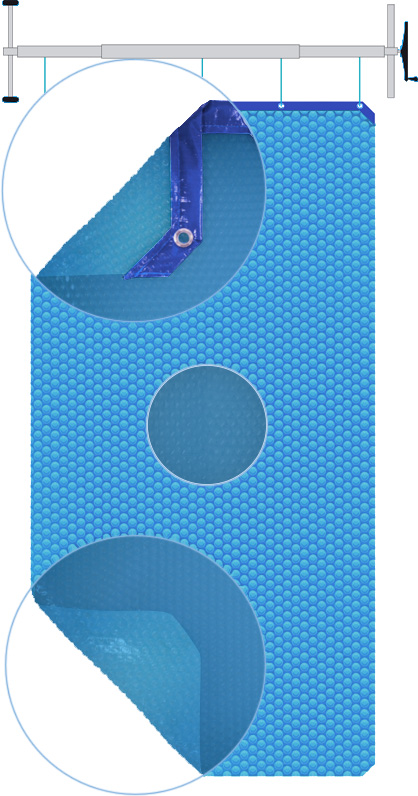 Copertura Isotermica a bolle d'aria BUBBLE ADVANCE Blu 500 gr/mq