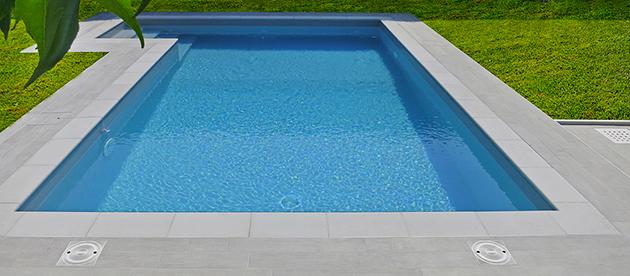 Bordo piscina impermeabile grigio mix Autetika