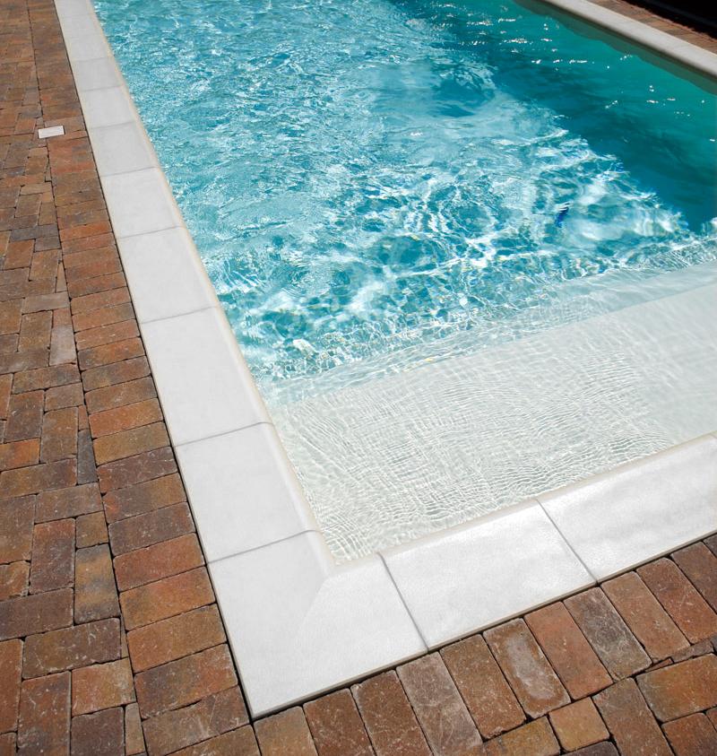 Bordo piscina Roma Autentika Bianco