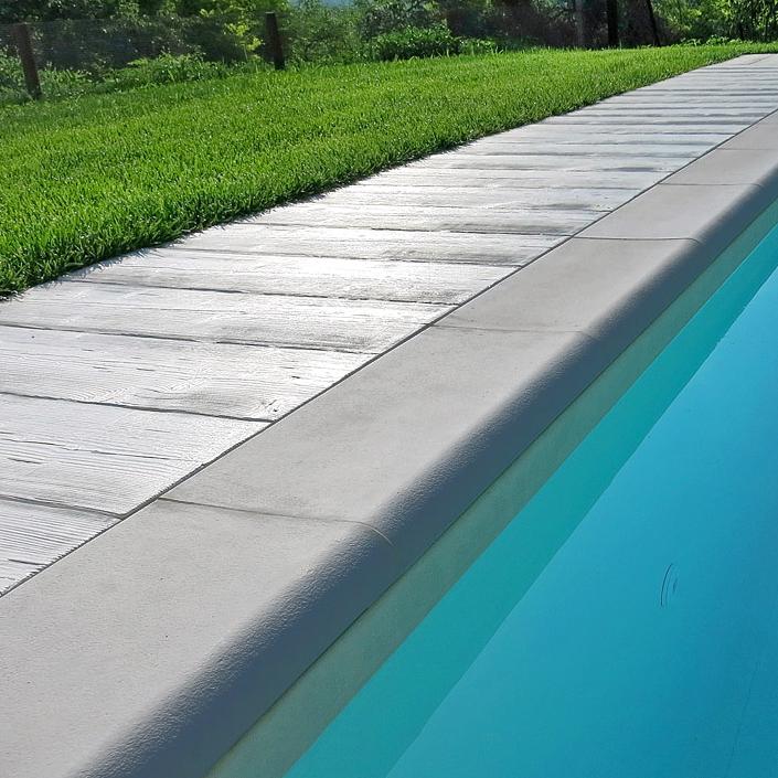 Bordo sagomato roma autentika grigio mix per piscina - Piante per bordo piscina ...