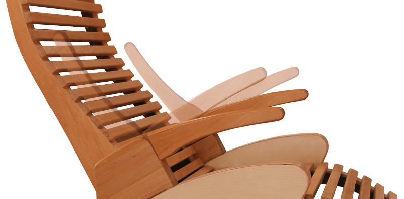 Poltrona relax reclinabile ALTO CONFORT in legno massello